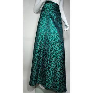 Peck & Peck Emerald Maxi A Line Skirt